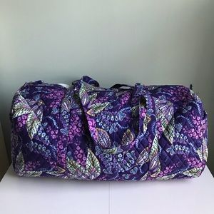 Vera Bradley Batik Leaves Large Traveler Duffel